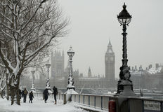 Neve Londres Foto de Stock Royalty Free