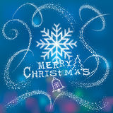 Neve magica di Natale Fotografia Stock