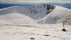 Neve, montagna di inverno in Bulgaria Fotografie Stock