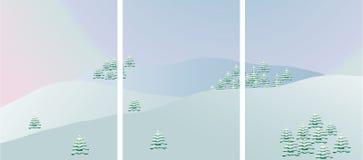 Neve na montanha ilustração stock
