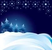 Neve na noite Imagens de Stock Royalty Free