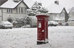 Neve na rua de Londres fotografia de stock royalty free