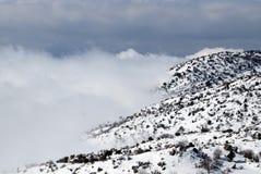 Neve nas montanhas Imagem de Stock Royalty Free