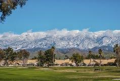 Neve nas montanhas Imagens de Stock Royalty Free