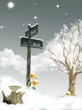 Neve nel palo Immagine Stock