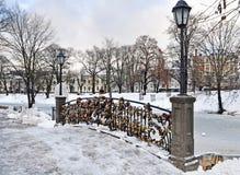 Neve nel parco Immagine Stock Libera da Diritti