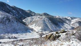 Neve neles montes Fotografia de Stock