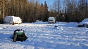 neve nell'Alaska fotografie stock