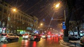 Neve nella città Immagini Stock