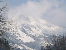 Neve nella montagna Fotografie Stock Libere da Diritti