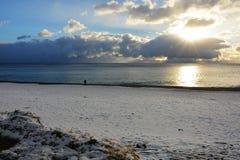 neve nella spiaggia Fotografia Stock