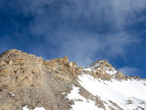 Neve nelle alte montagne Fotografie Stock