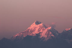 Neve no crepúsculo Imagens de Stock