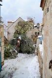 Neve no Jerusalém Fotografia de Stock Royalty Free