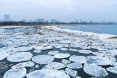 Neve no lago Fotografia de Stock