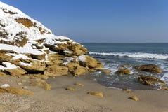 Neve no mar imagens de stock