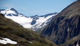 Neve nos alpes Fotos de Stock