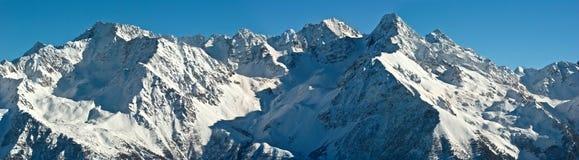 Neve nos alpes Imagens de Stock Royalty Free