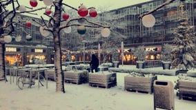 Neve nos Países Baixos Imagens de Stock Royalty Free