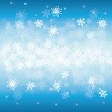 Neve o fiocco di neve di inverno Fotografie Stock