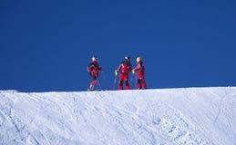 Neve para três fotos de stock