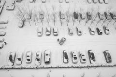 Neve pesante Fotografia Stock
