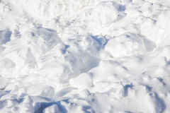 Neve piena di sole Fotografia Stock