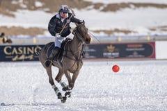 Neve Polo World Cup Sankt Moritz 2016 immagine stock libera da diritti