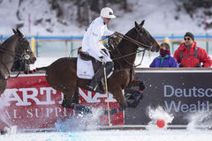 Neve Polo World Cup Sankt Moritz 2016 Fotografia de Stock Royalty Free