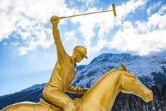 Neve Polo World Cup Sankt Moritz 2016 Imagem de Stock Royalty Free