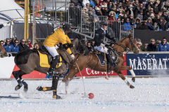 Neve Polo World Cup Sankt Moritz 2016 immagine stock