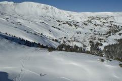 neve posteriore del paese del pensionante Fotografie Stock