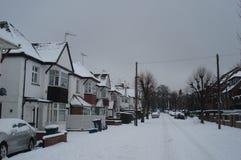 Neve profunda em Londres no 5 de fevereiro de 2012 fotos de stock