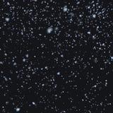 Neve que cai na noite Fotos de Stock Royalty Free