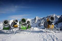 Neve que faz máquinas Fotografia de Stock