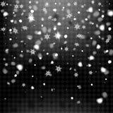 Neve realistica su un fondo trasparente Fotografie Stock Libere da Diritti