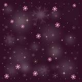 A neve roxa dourada Stars 2016 ilustração royalty free