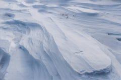 Neve scolpita Immagine Stock