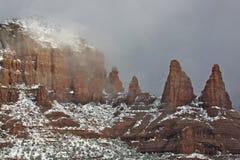 Neve in Sedona, AZ Fotografia Stock