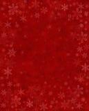 Neve sottile su colore rosso Fotografia Stock Libera da Diritti