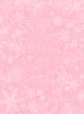 Neve sottile sul colore rosa Fotografie Stock