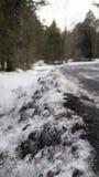 Neve sporca Fotografia Stock Libera da Diritti
