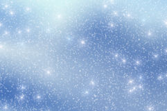 A neve Stars o fundo 3 do Natal Fotografia de Stock