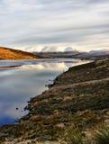 Neve su Ben Wyvis, Scozia Fotografie Stock
