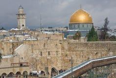 Neve su Temple Mount Fotografia Stock Libera da Diritti
