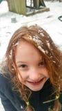 Neve su un angelo Immagini Stock Libere da Diritti
