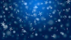 Neve su un fondo blu Fotografie Stock Libere da Diritti