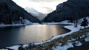 Neve sul lago Immagine Stock Libera da Diritti