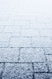 Neve sul patio Immagine Stock Libera da Diritti
