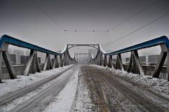 Neve sul ponte Immagine Stock